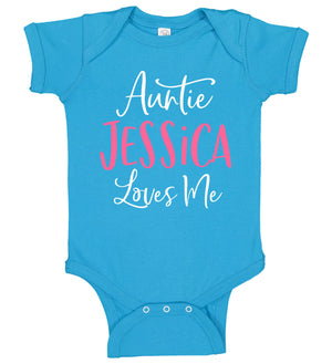"""Auntie Loves Me"" Onesie - Personalized Babies"