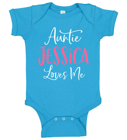 "Image of ""Auntie Loves Me"" Onesie - Personalized Babies"