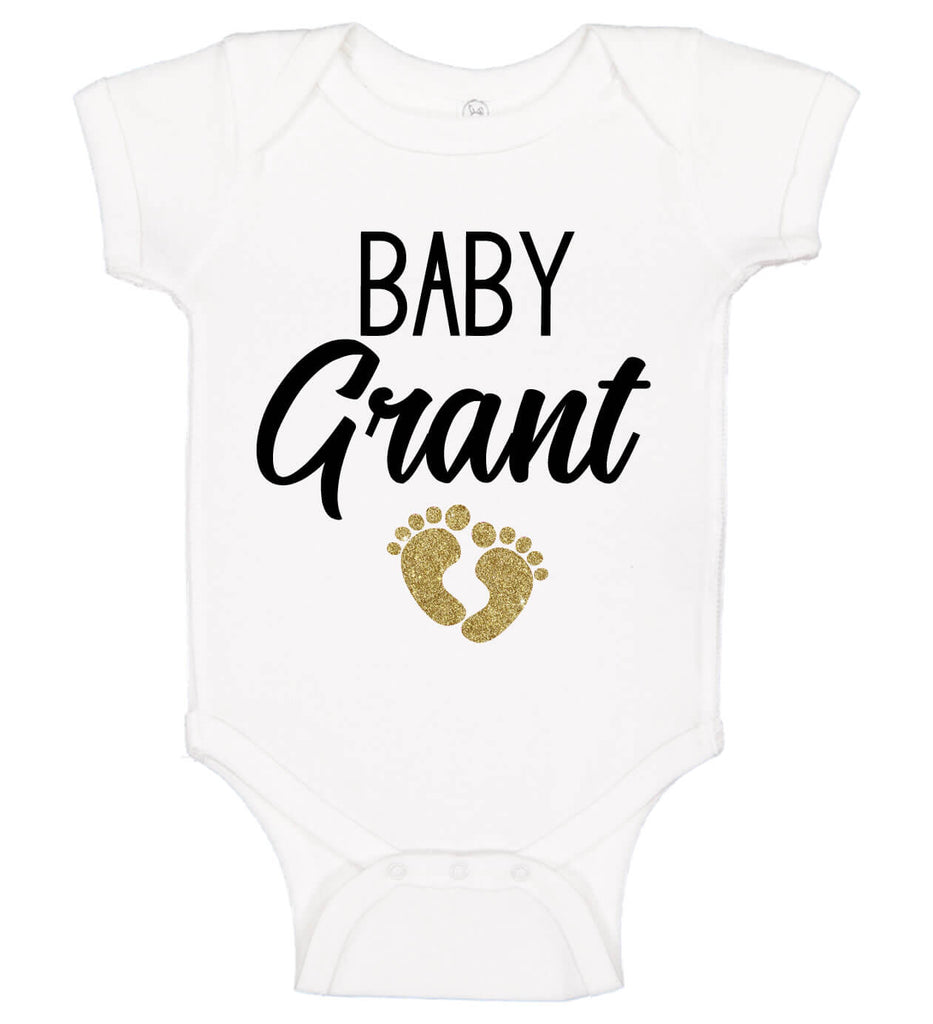 Baby Onesie with Footprint - Personalized Babies