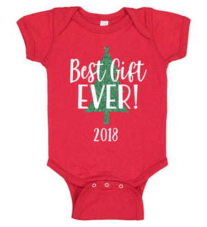 """Best Gift Ever!"" Christmas Onesie - Personalized Babies"