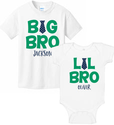 Big Bro & Lil Bro Onesie & T-Shirt Set - Tie