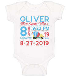 Birth Announcement Bodysuit - Construction