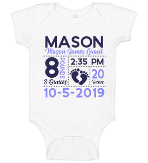 Birth Announcement Onesie - Footprint