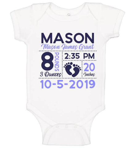 Image of Birth Announcement Bodysuit - Footprint