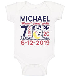 Birth Announcement Bodysuit - Moon & Stars