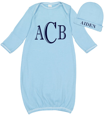 Image of Monogrammed Baby Boy Layette