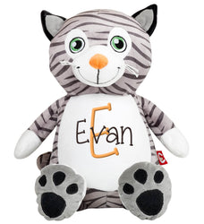 Cat with Name & Initial - Personalized Babies