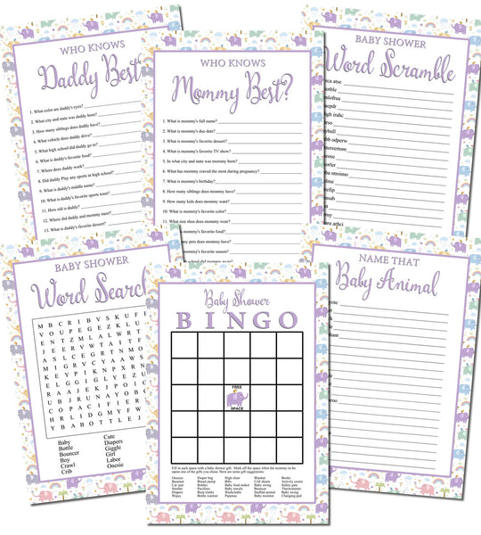 Free Printable Baby Shower Games Personalized Babies