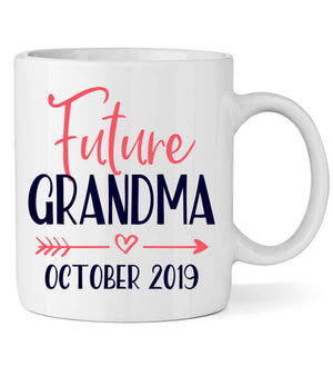Future Grandma Mug with Date - Personalized Babies