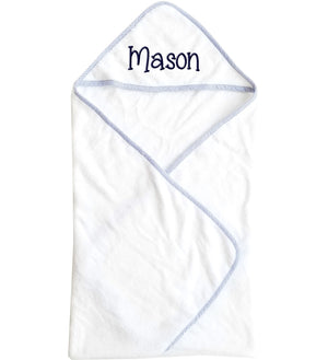 Hooded Baby Boy Towel with Name