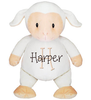 Lamb with Name & Initial - Personalized Babies