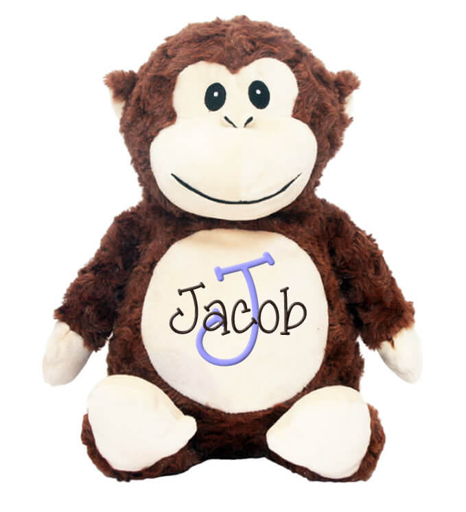 Monkey with Name & Initial - Personalized Babies