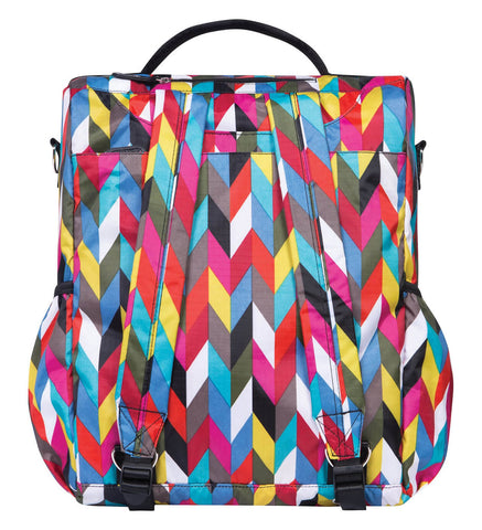 Image of Monogrammed Backpack Diaper Bag - Colorful Zig Zag - Personalized Babies