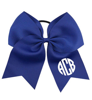Large Monogrammed Bow - Personalized Babies