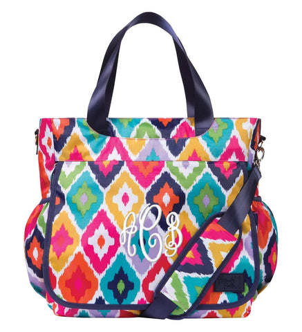 Monogrammed Diaper Bag Tote - Diamonds - Personalized Babies