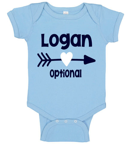 Baby Boy Onesie with Name & Heart Arrow - Personalized Babies