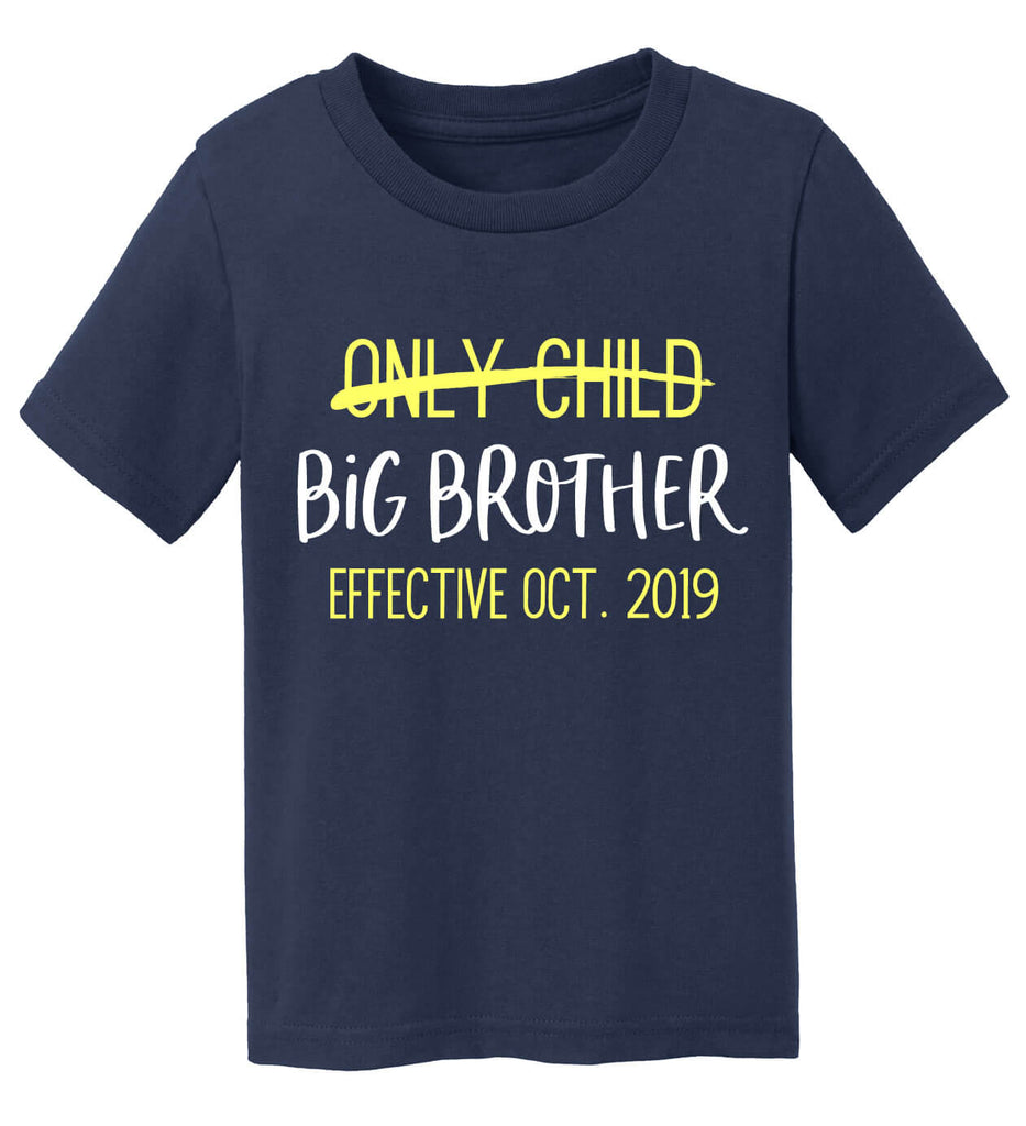 Only Child to Big Brother T-Shirt - Personalized Babies