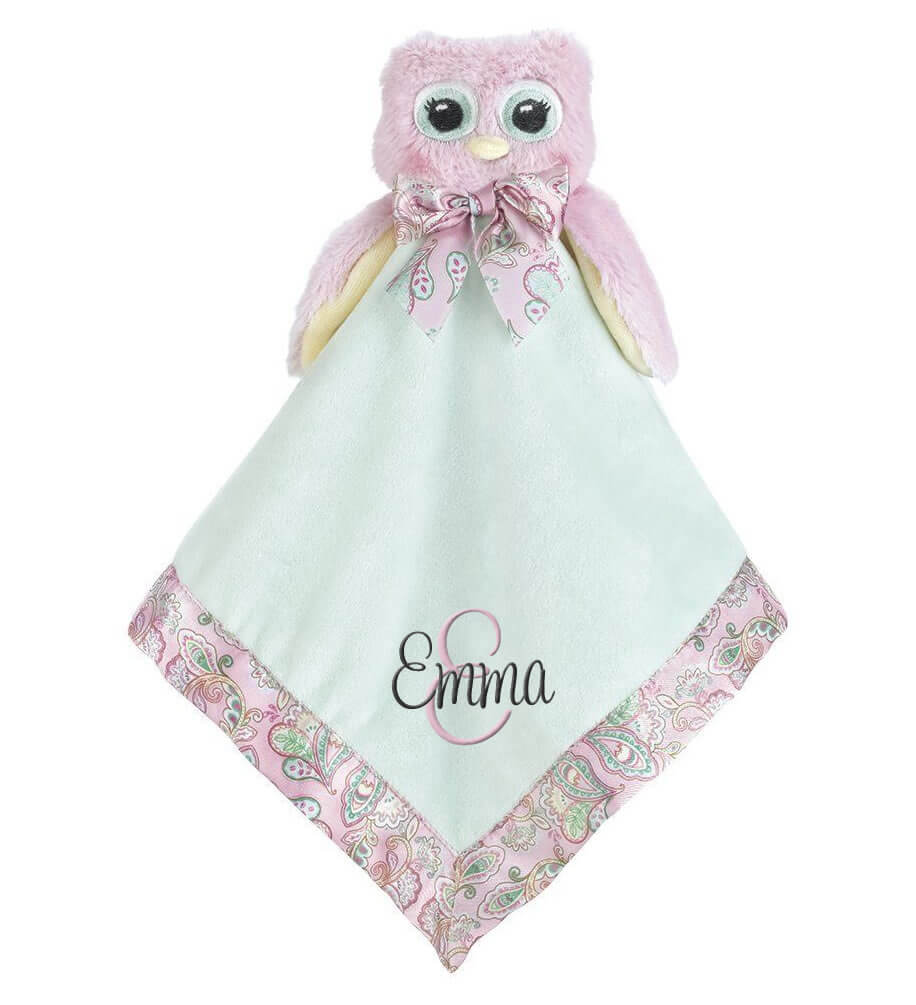 Owl Snuggle Blanket with Name & Initial - Personalized Babies