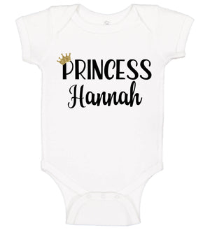 "Baby Girl ""Princess"" Onesie - Personalized Babies"