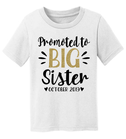 Image of Promoted to Big Sister T-Shirt - Personalized Babies