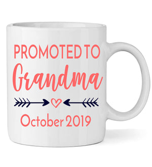 Promoted to Grandma with Arrows - Personalized Babies