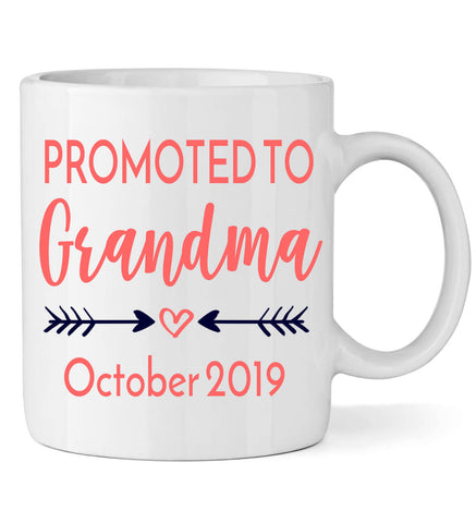 Image of Promoted to Grandma with Arrows - Personalized Babies
