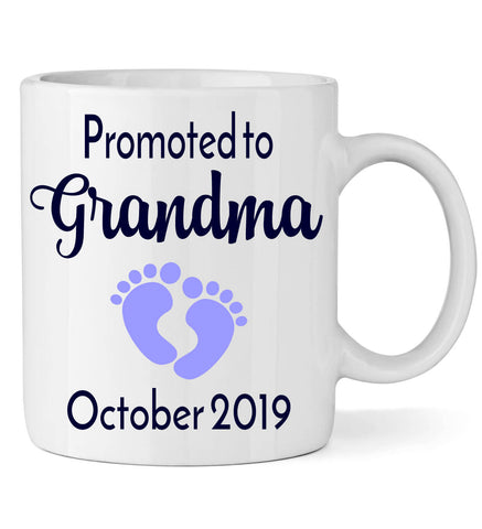 Image of Promoted to Grandma with Footprint - Personalized Babies