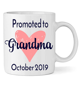 Promoted to Grandma with Heart - Personalized Babies