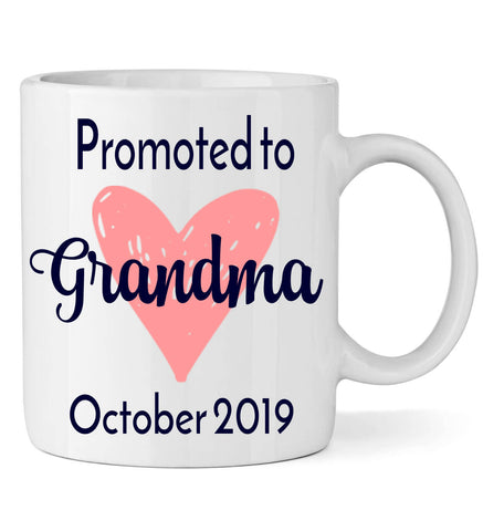 Image of Promoted to Grandma with Heart - Personalized Babies