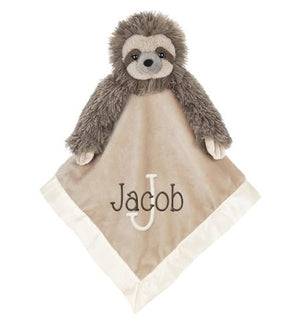 Sloth Snuggle Blanket with Name & Initial