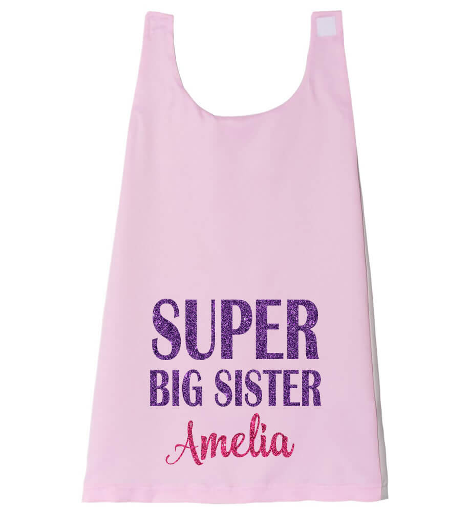 Super Big Sister Cape - Personalized Babies