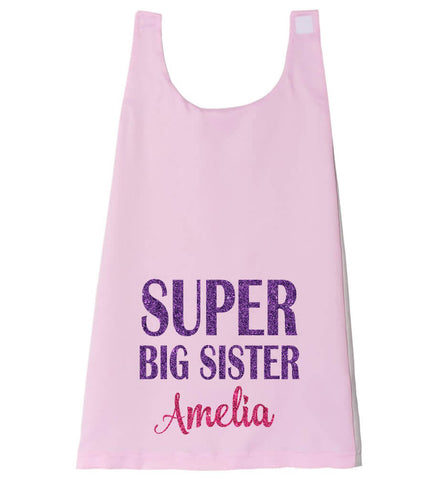 Image of Super Big Sister Cape - Personalized Babies