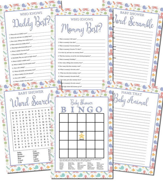 photo relating to Free Printable Baby Shower Games Word Scramble With Answer Key named No cost Printable Youngster Shower Video games Custom made Toddlers