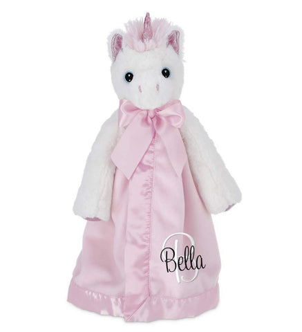 Unicorn Snuggle Blanket with Name & Initial