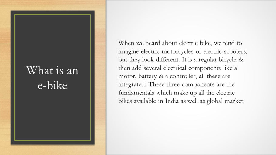 What is a ebike or an Electric Cycle?