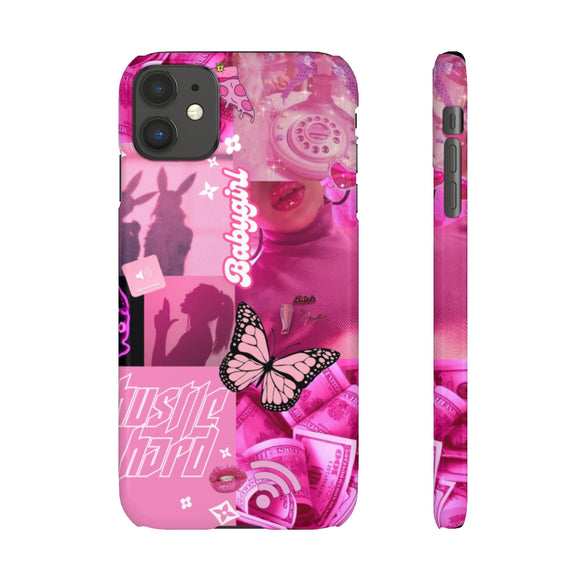 BABYGIRL - HOT PINK SLIM PHONE CASE