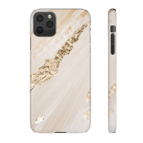 Beige & Gold Foil Phone Case