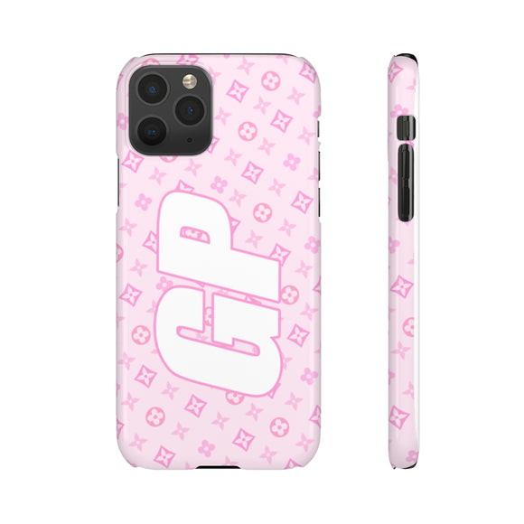 PERSONALISED - INITIALS -  PINK TINY FLOWER PHONE CASE