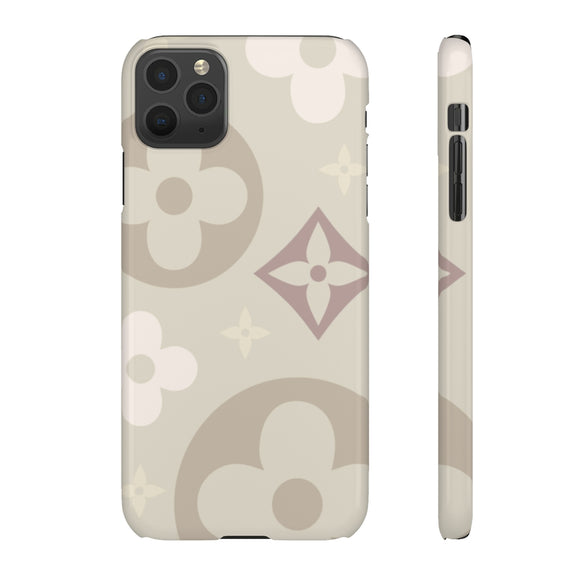 BEIGE SHADES FLOWER PHONE CASE
