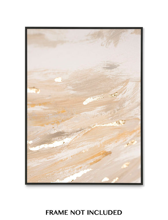 BEIGE FOIL EFFECT ART P1