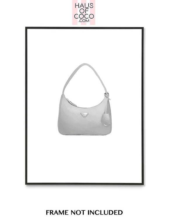 PRADA GREY BAG ART