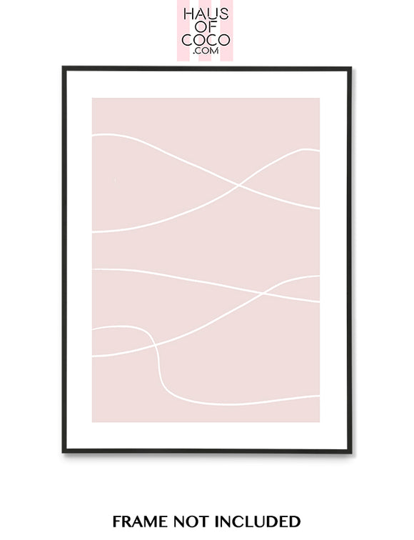 HORIZONTAL LINES BLUSH ART