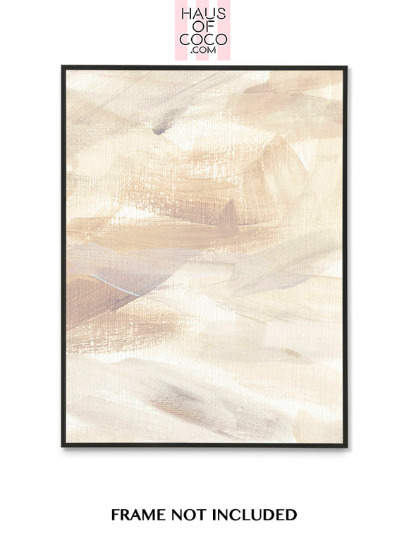 LARGE BEIGE TONES DRY BRUSH PORTRAIT