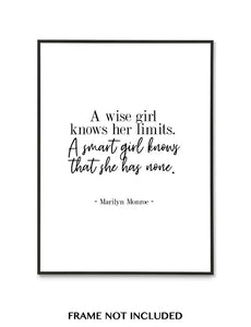 """A SMART GIRL..."" QUOTE"