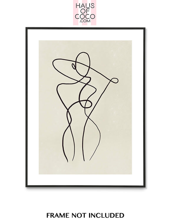 FEMALE FIGURE BLACK/BEIGE