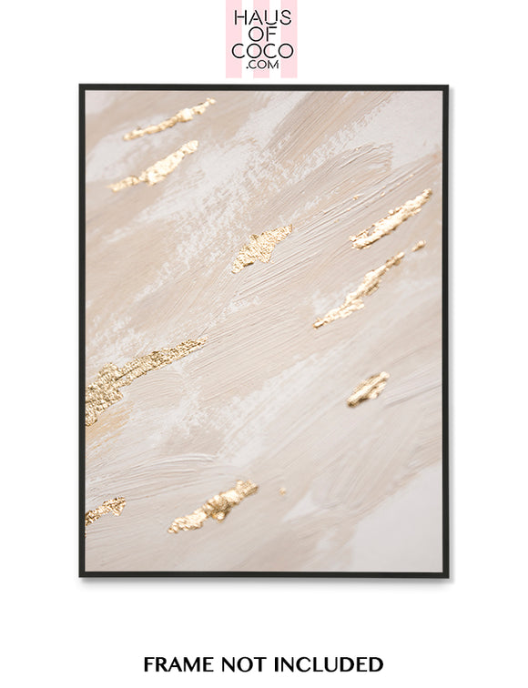 BEIGE FOIL EFFECT ART P2