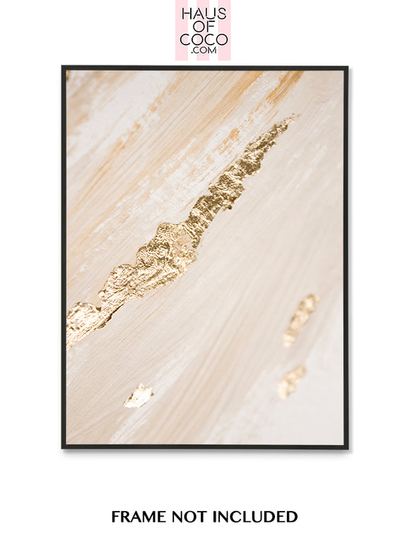 BEIGE FOIL EFFECT ART P3