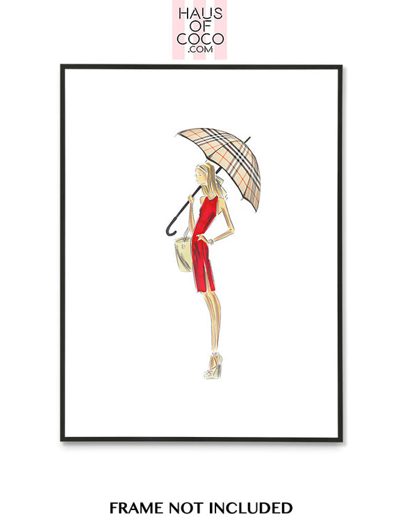 RED DRESS UMBRELLA