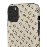 TINY GOLD EFFECT FLOWERS BEIGE PHONE CASE