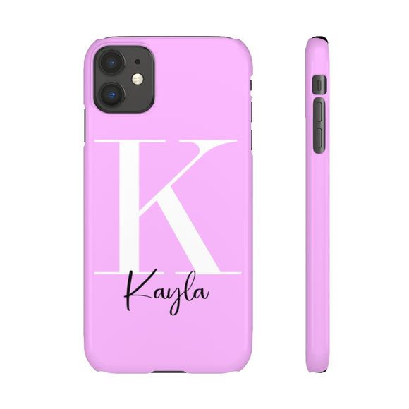 PERSONALISED - NAME -  LILAC PHONE CASE